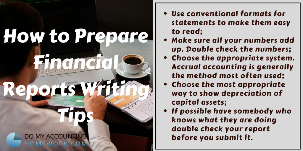 how to prepare financial reports writing tips